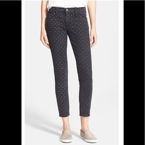 Current/Elliott The Stiletto Black Polka Dot Jeans